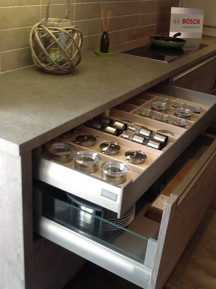 Bespoke Spice Drawer Pull Out Kitchen Features