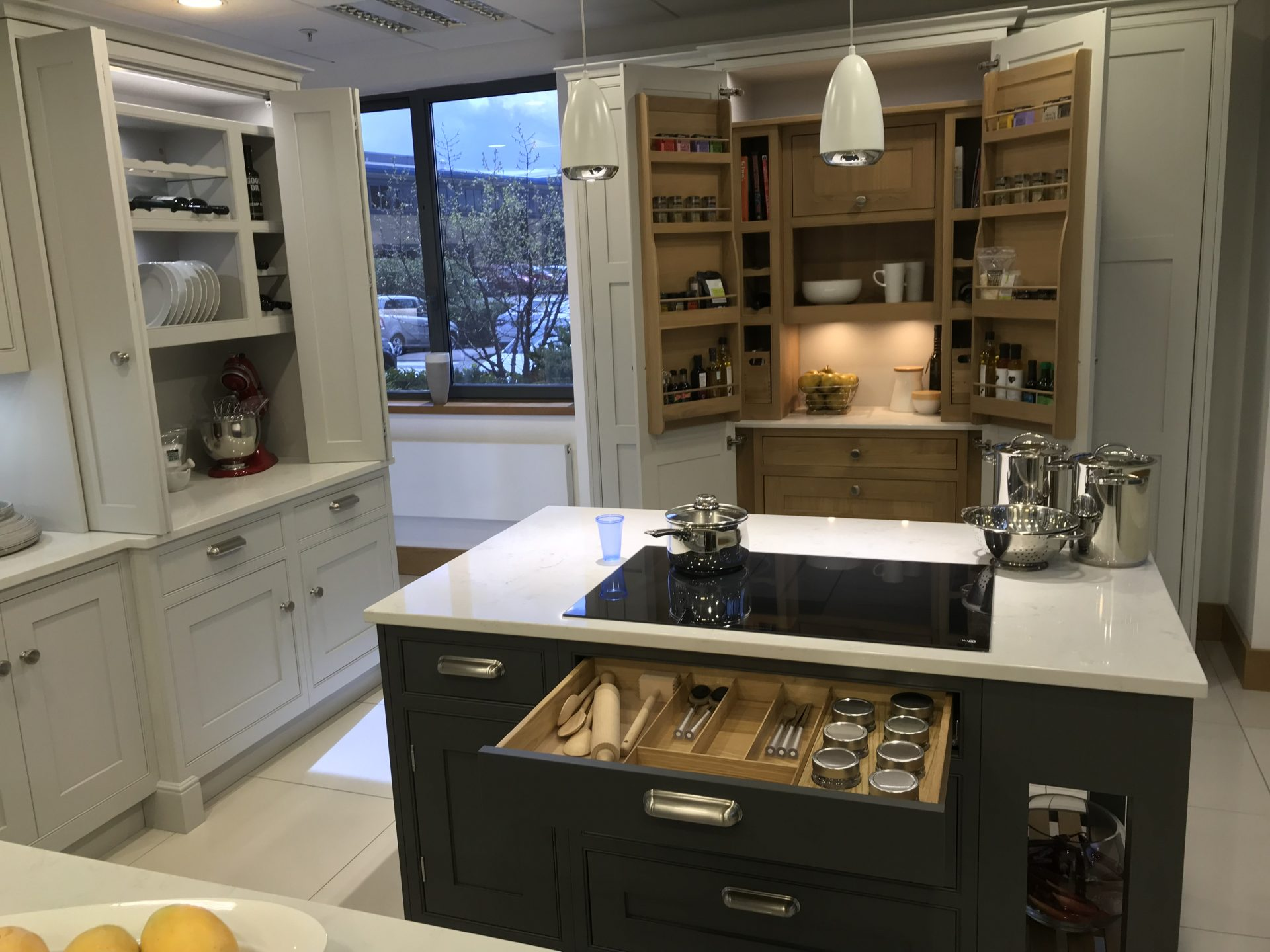 Custom Kitchen Cupboards With Bespoke Shelving