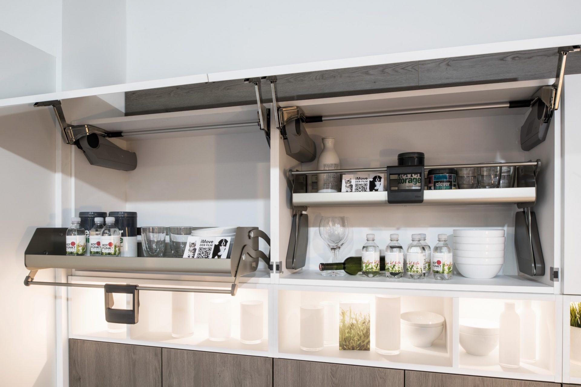 Custom Wall Cupboard With Pull Out Shelving