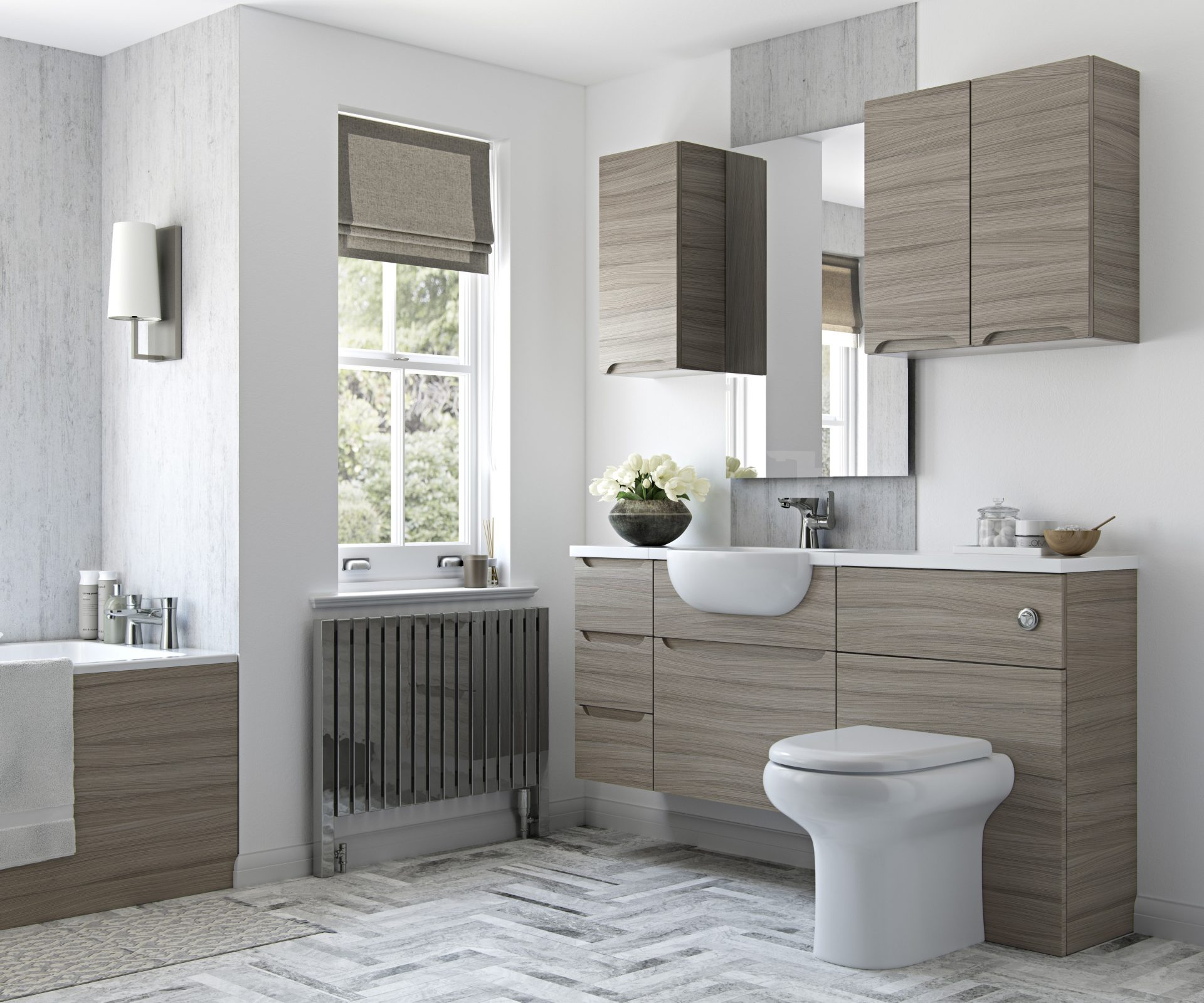 Driftwood Pull Handle Fitted Bathroom Design Telford