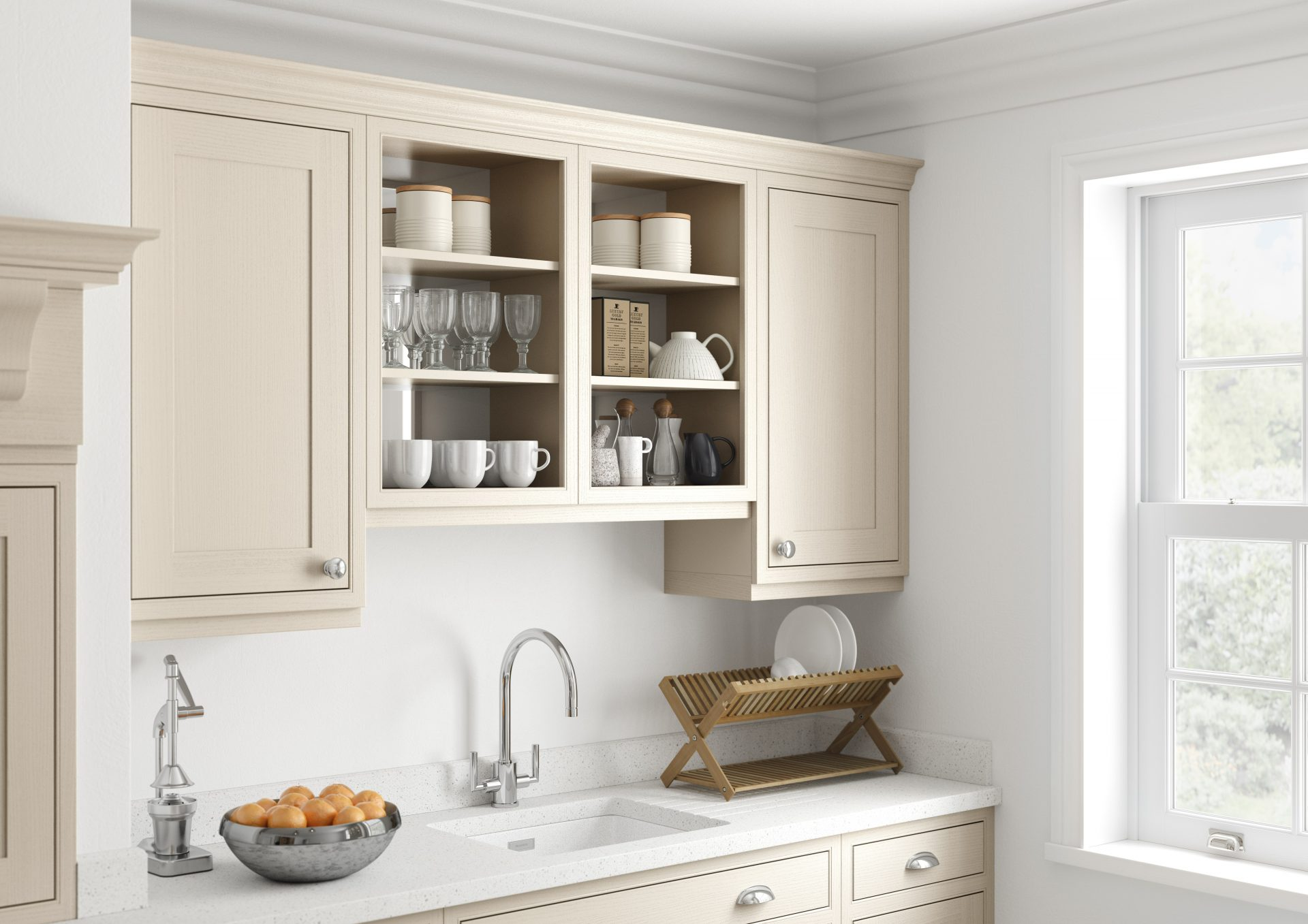 Feature Open Wall Cabinet