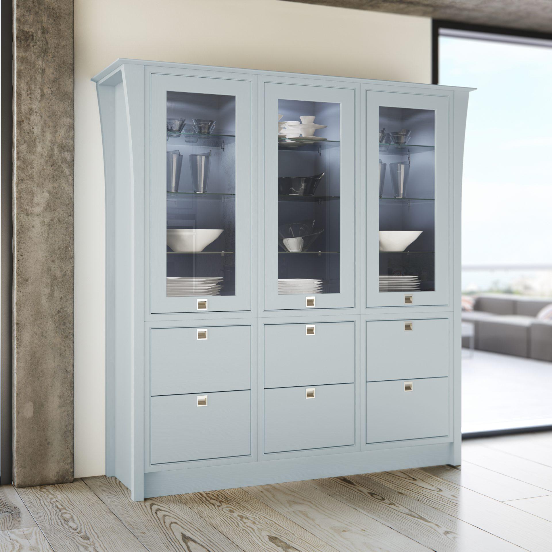 Glazed Larder Cabinet