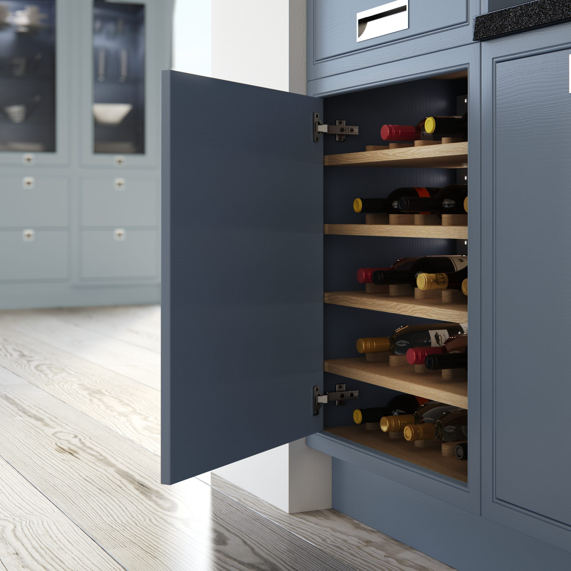 Larder Cabinet With Integral Wine Store