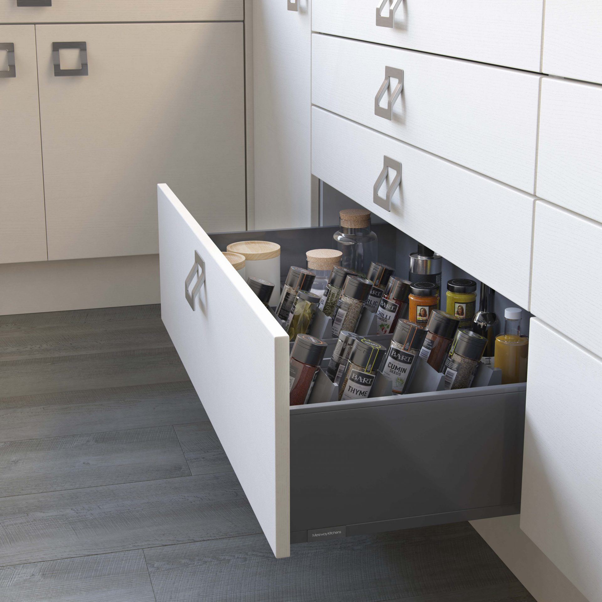 Legrabox Pan Drawer with Spice Dividers