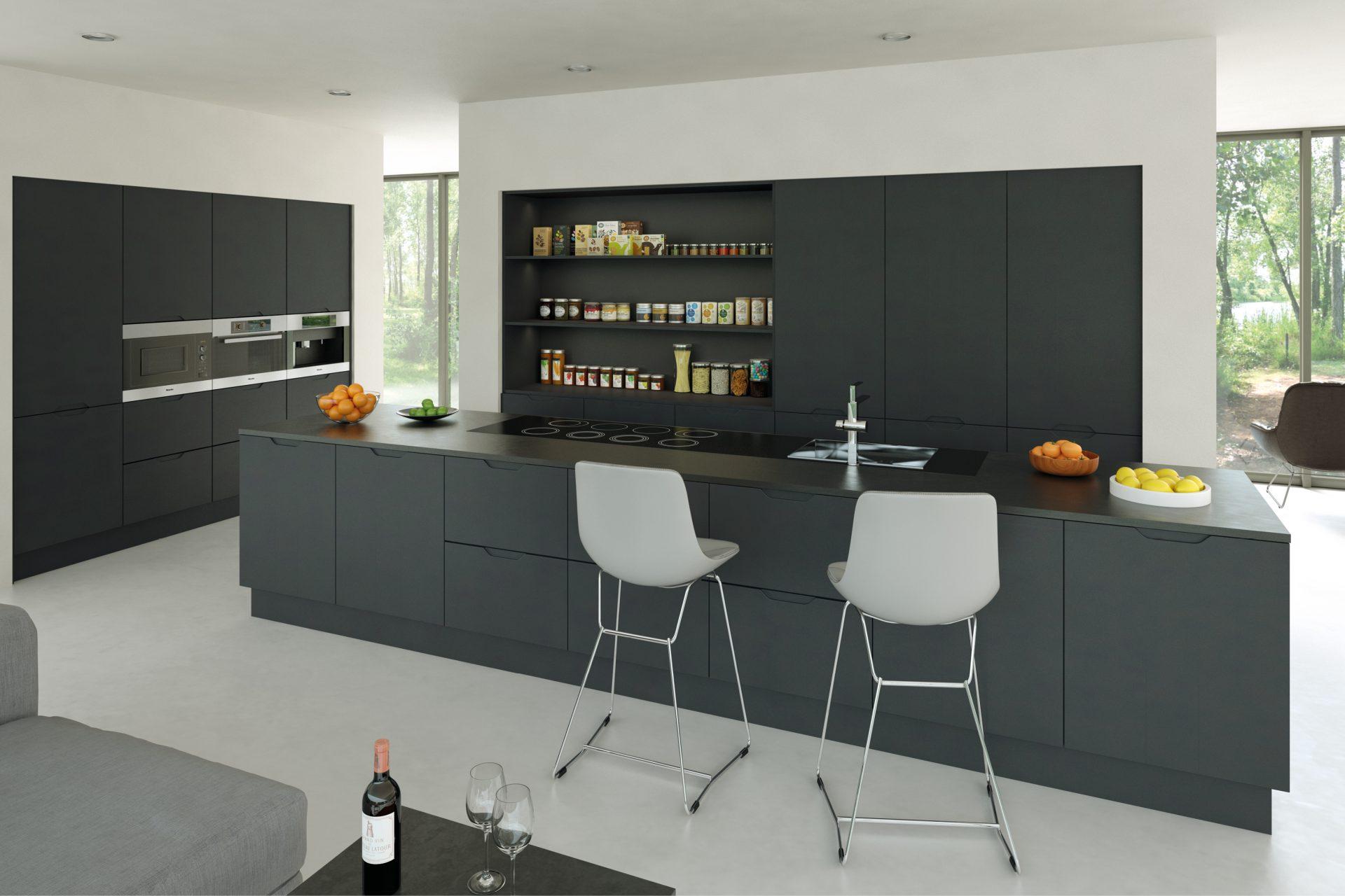 Matt Graphite Integra Kitchen