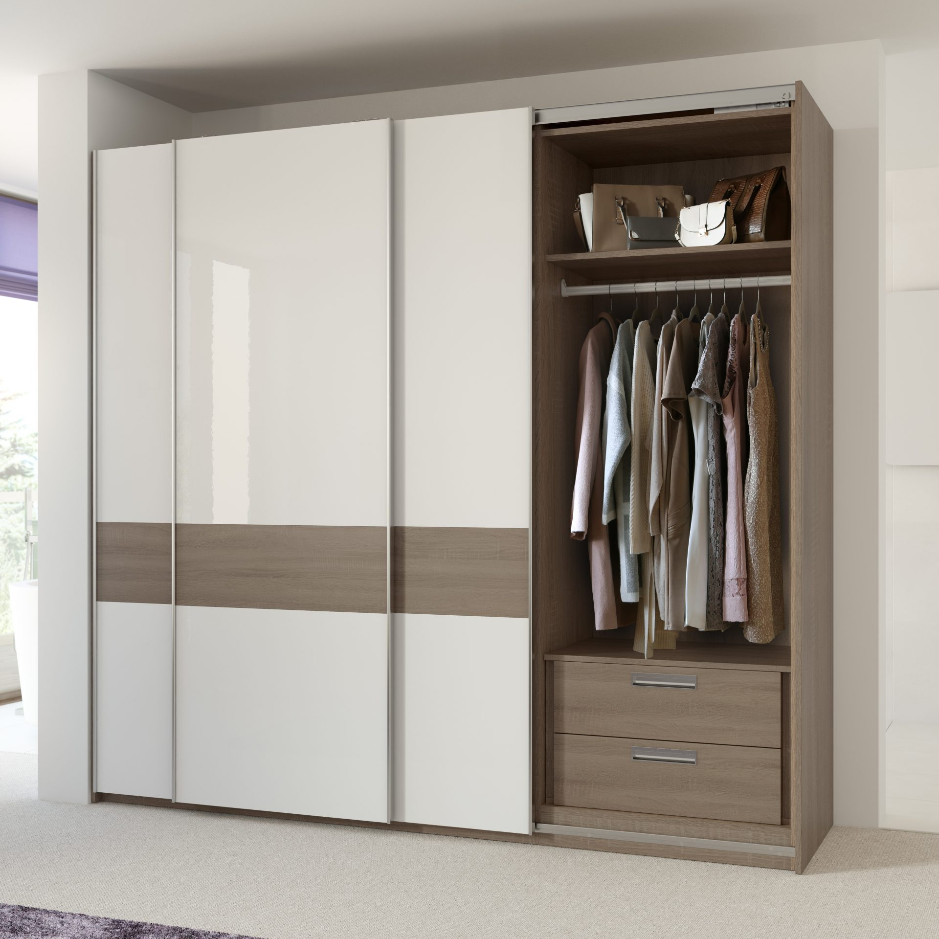 Storage Solution with single hanging and internal drawers