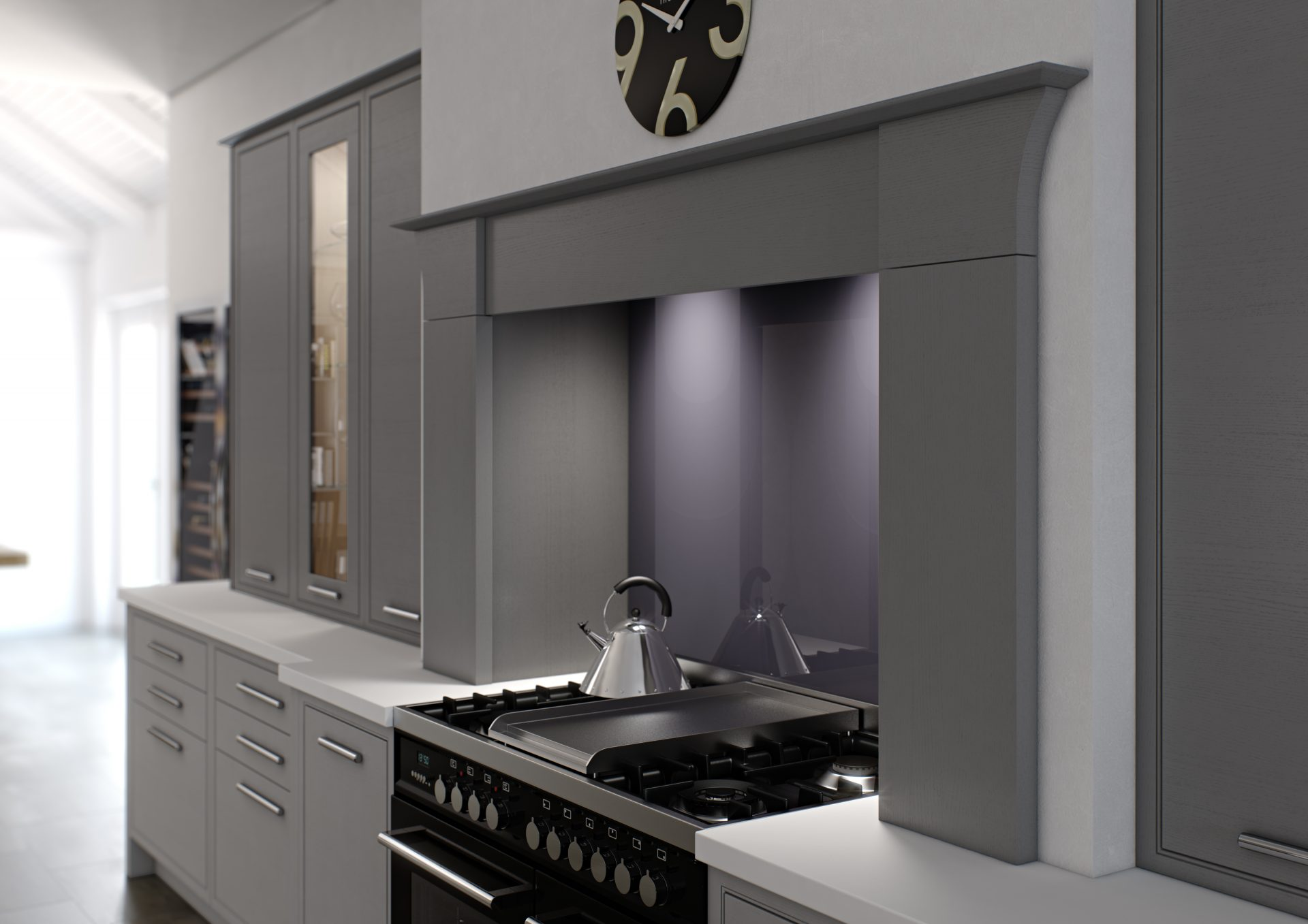 Tapered Mantle Cabinet