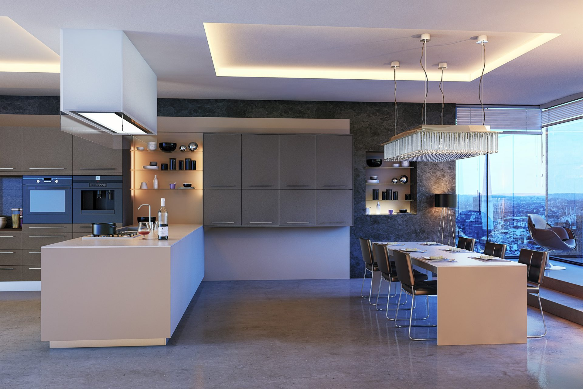 Ultra Matt Metallic Basalt Metallic Cashmere Kitchen