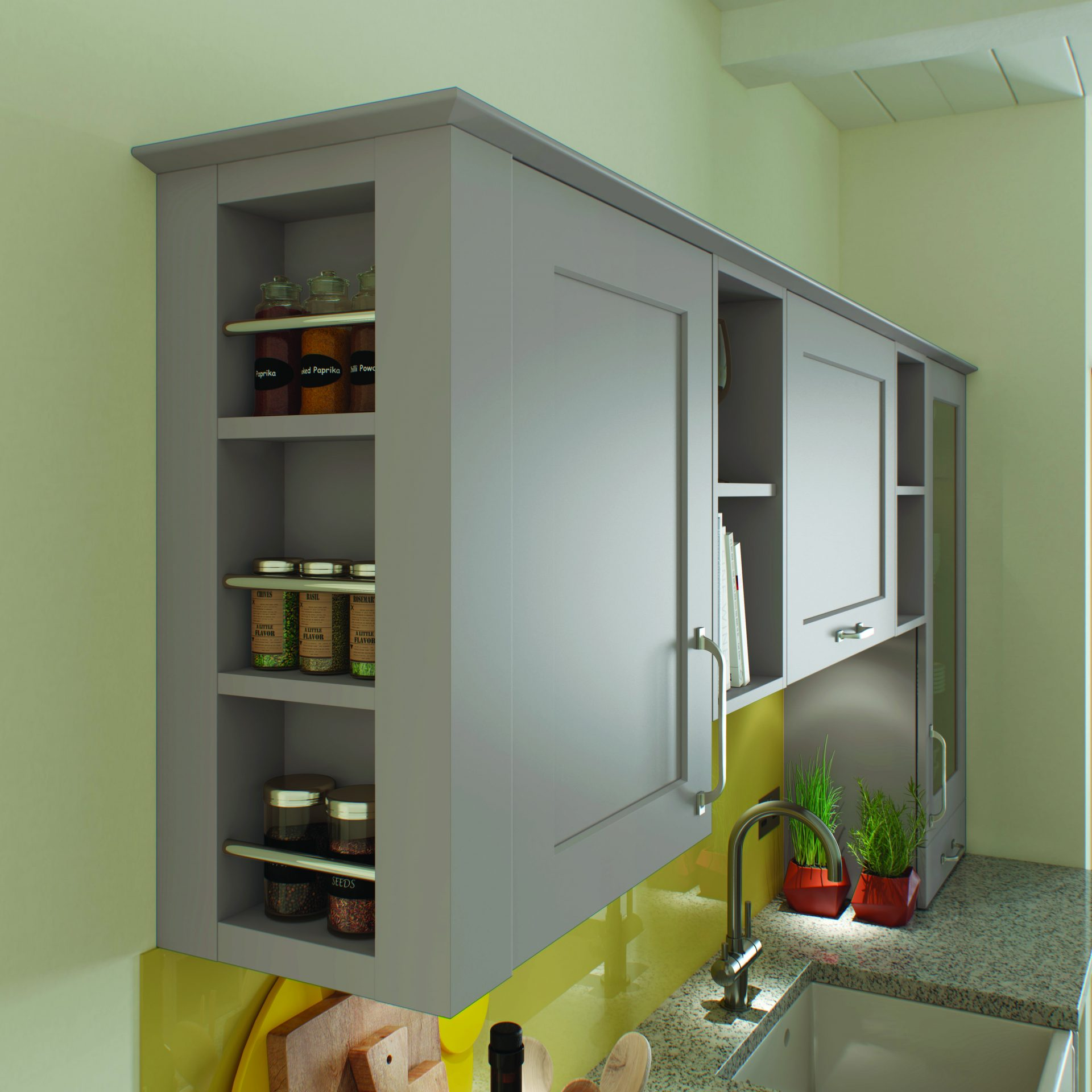 Wall Spice Rack End Unit