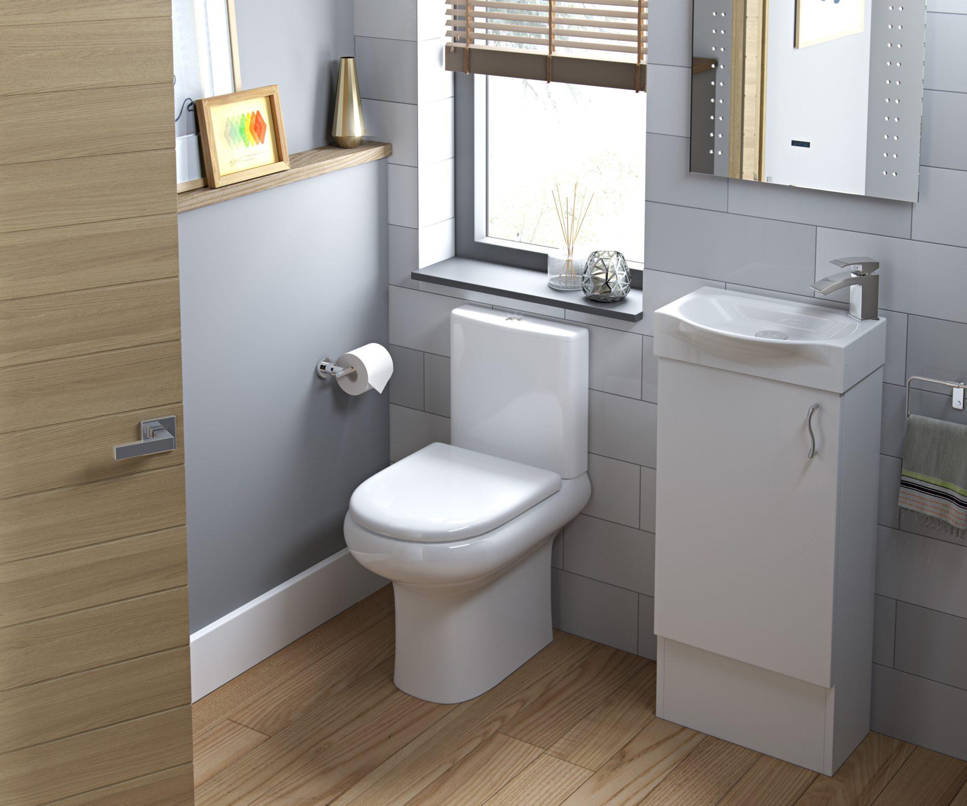 White Matt Slab Bathroom Telford
