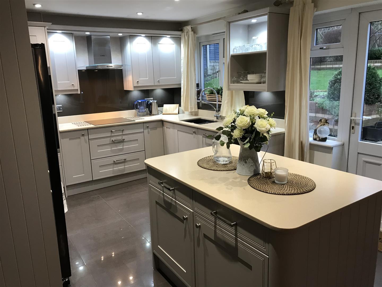 Cashmere Solid Acrylic White Kitchen Installation - Priorslee, Telford