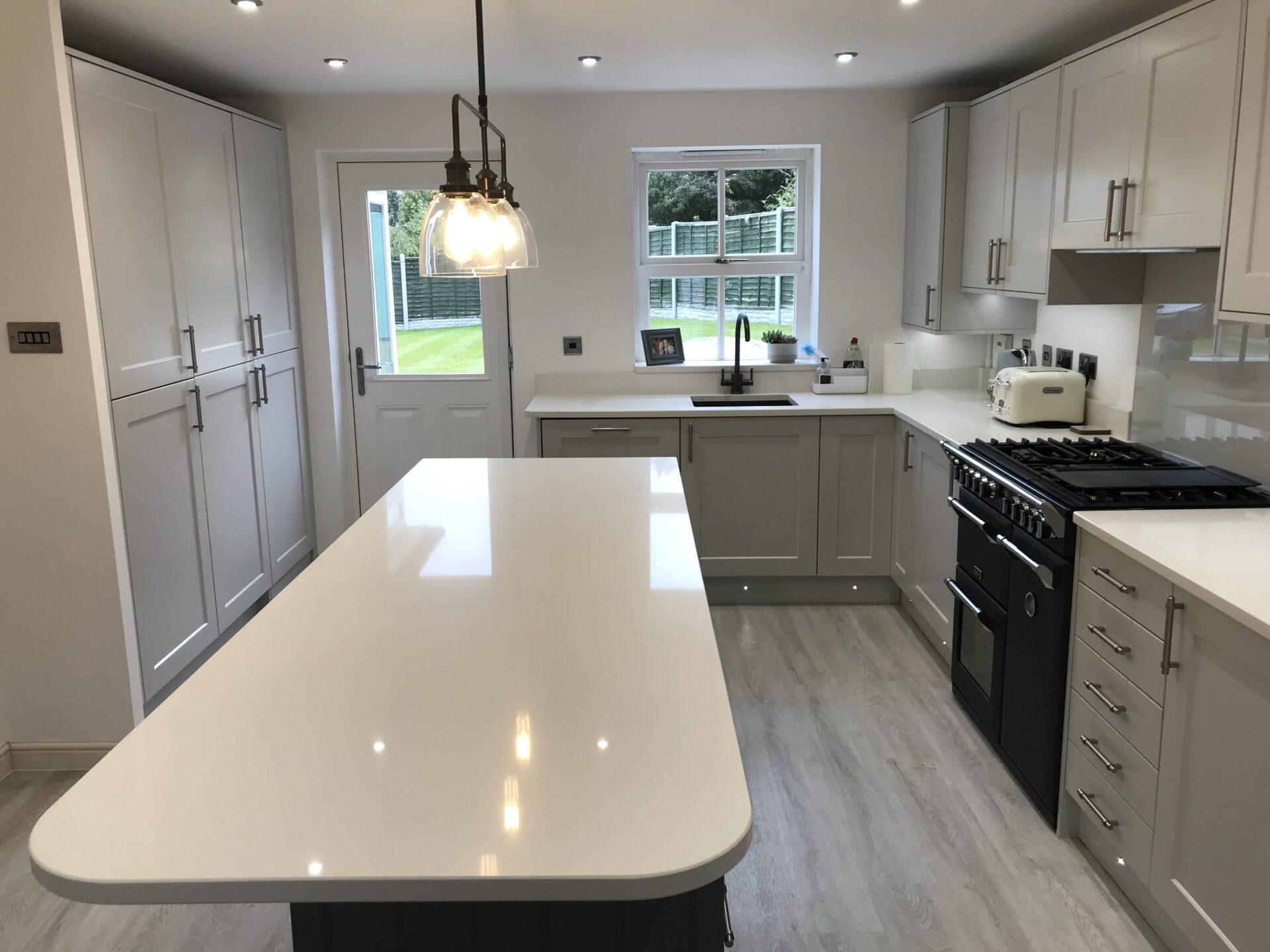Charnwood Paint Laquered Light Grey & Dust Grey with Quartz Surfaces - Admaston