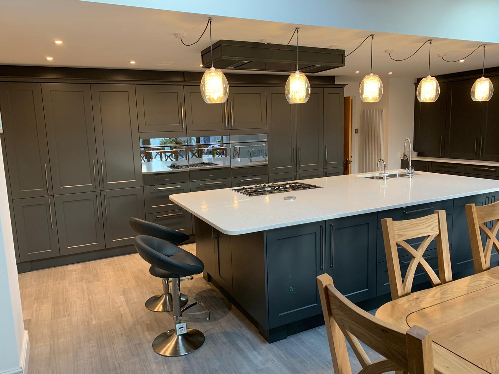 Classic Charnwood Diamond Grey Kitchen with Solid Quartz - Leicester