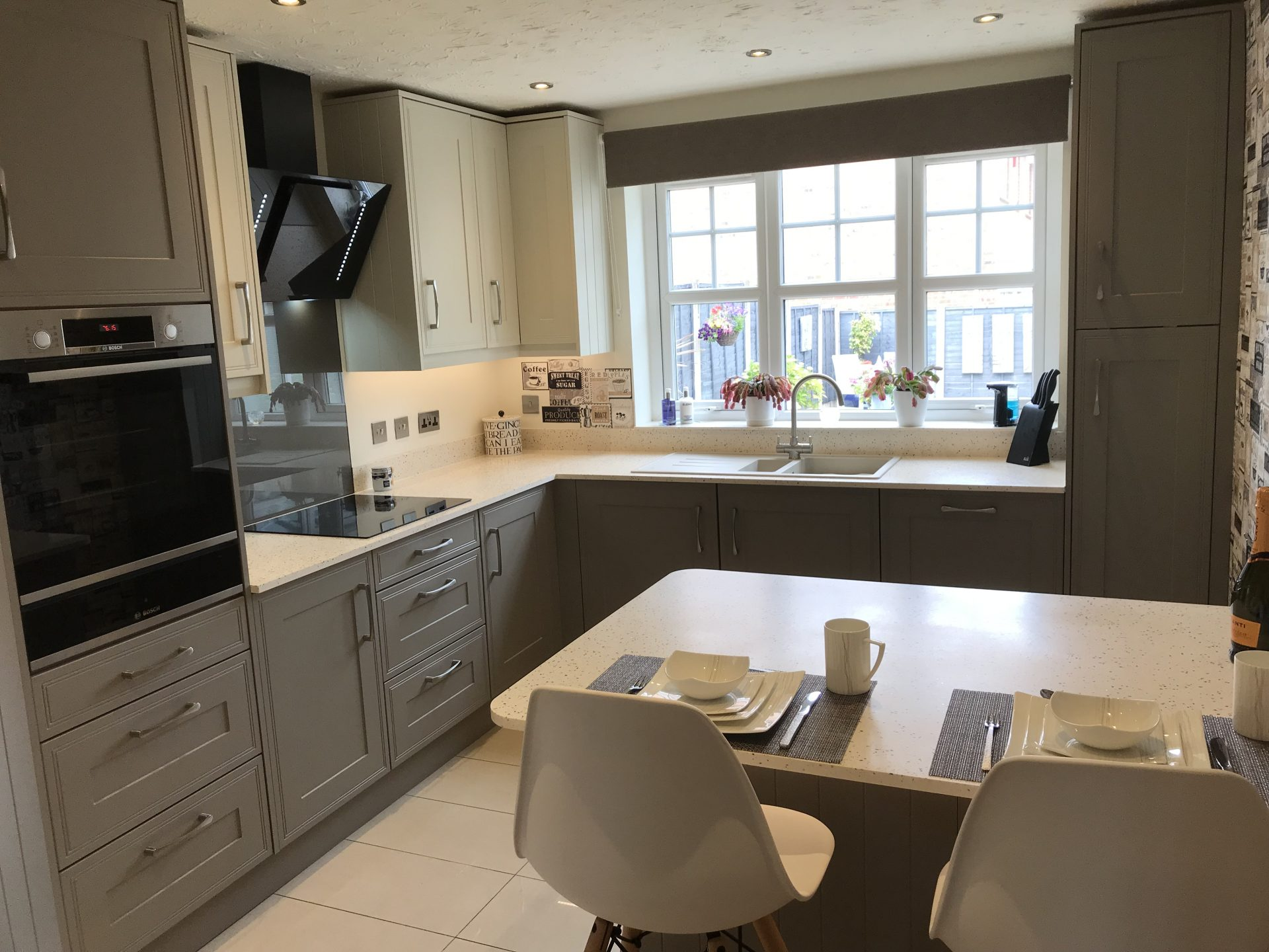 Classic Kitchen with solid acrylic worktops - St Georges, Telford