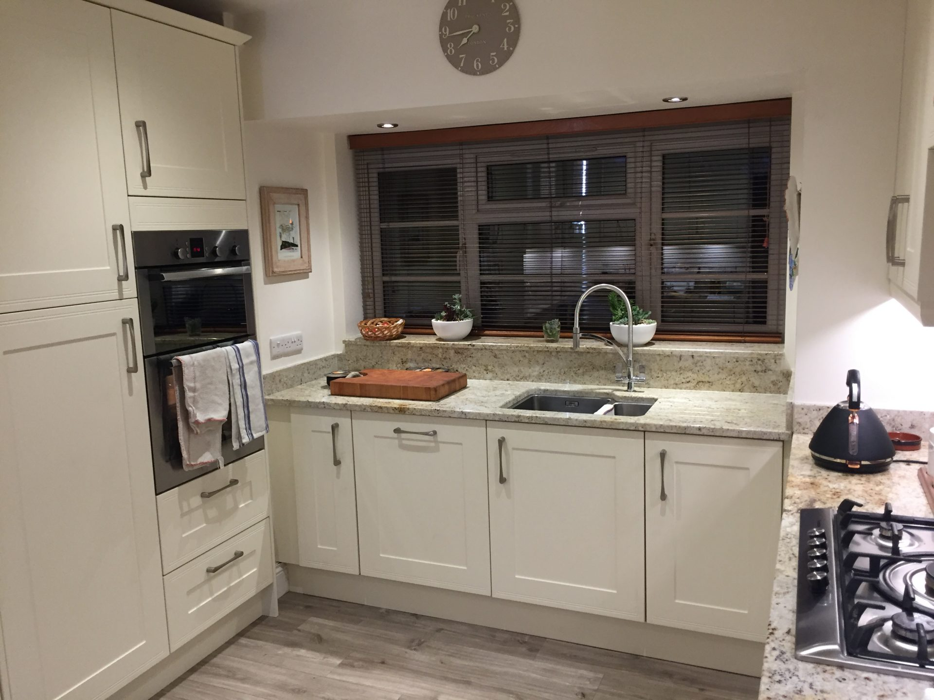 Classic Oakgrain Cream Granite Kitchen - Wem