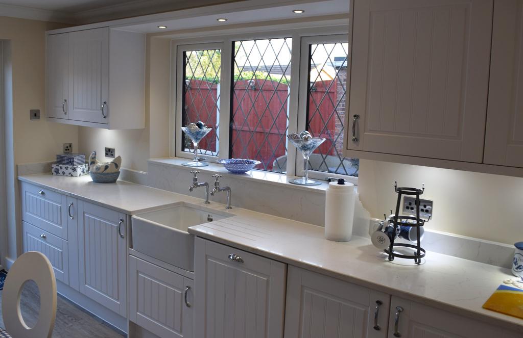Classic White Granite Kitchen - Ironbridge