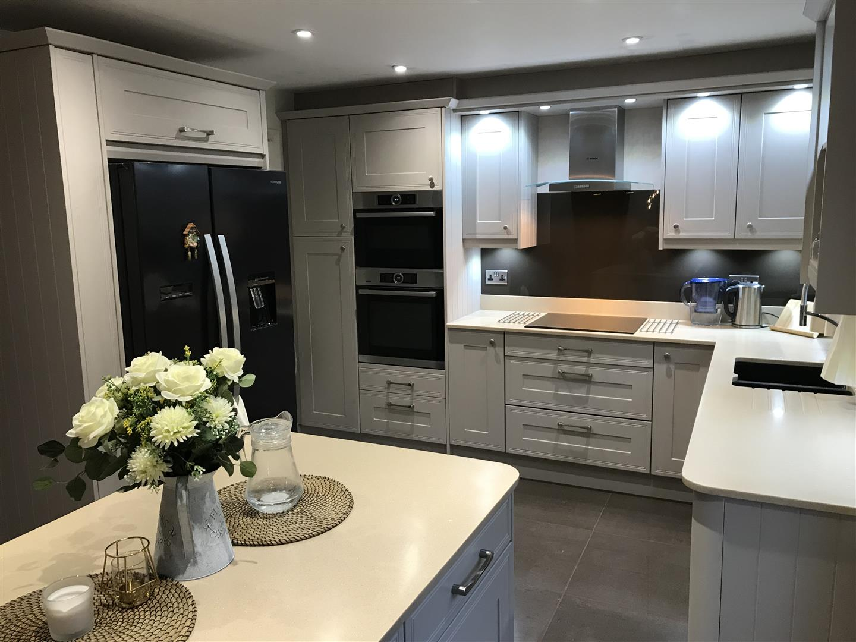 Classic Cashmere White Acrylic Kitchen Installation - Priorslee, Telford