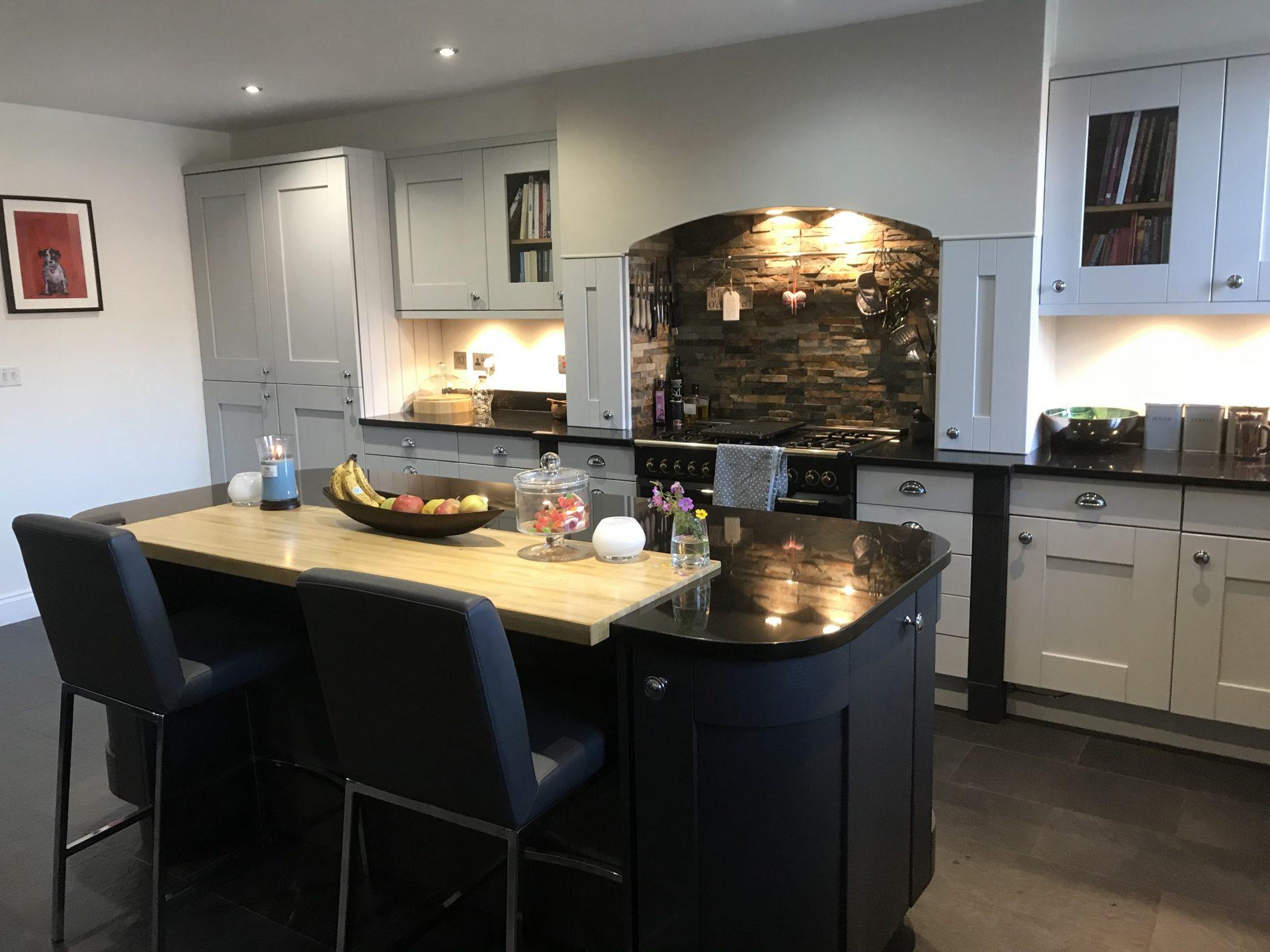 Classic Grey Graphite Kitchen With Island - Weston-Under-Lizard, Staffordshire