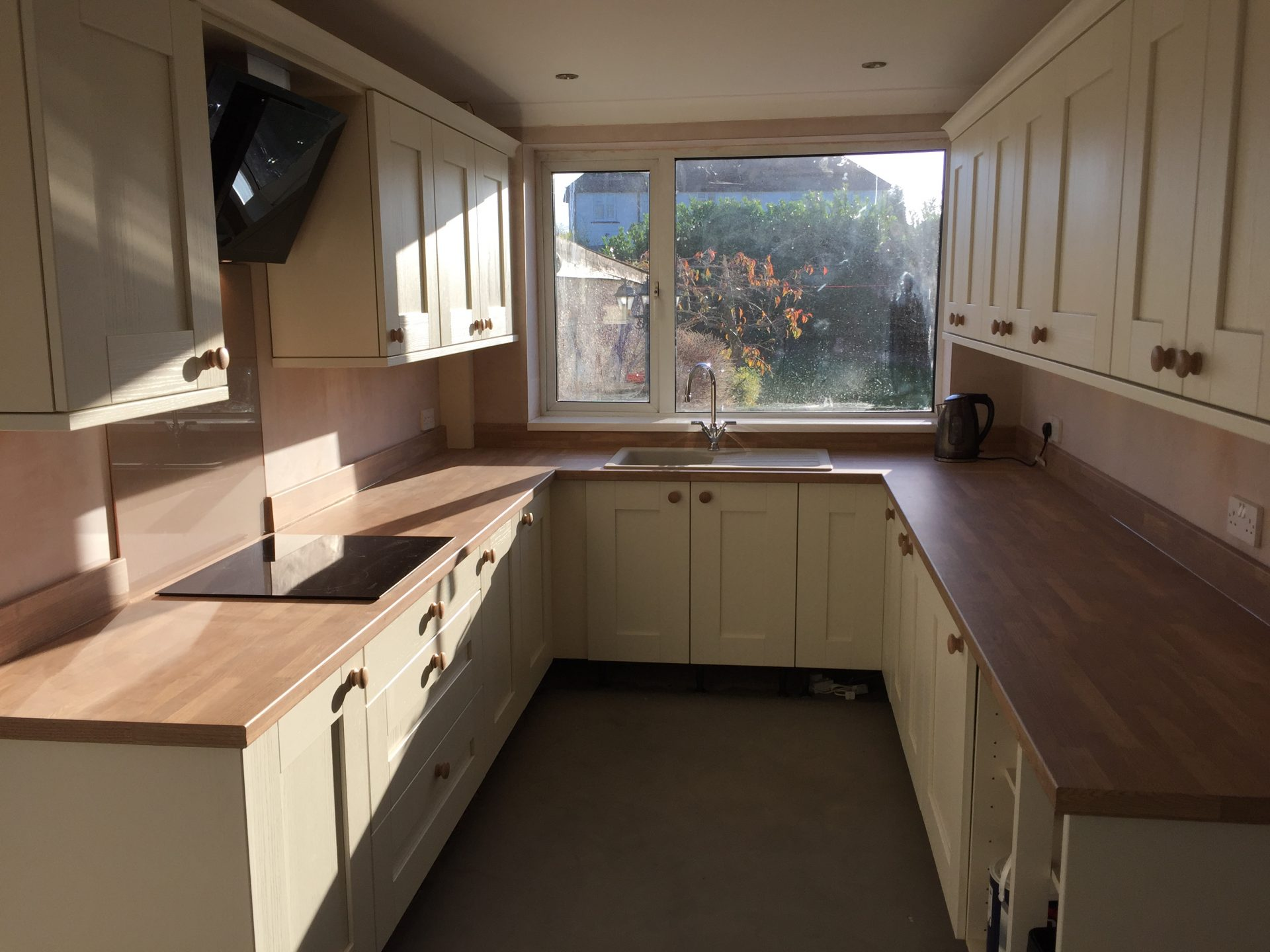 Kitchen Install Gala Oyster Wood Effect Worktop
