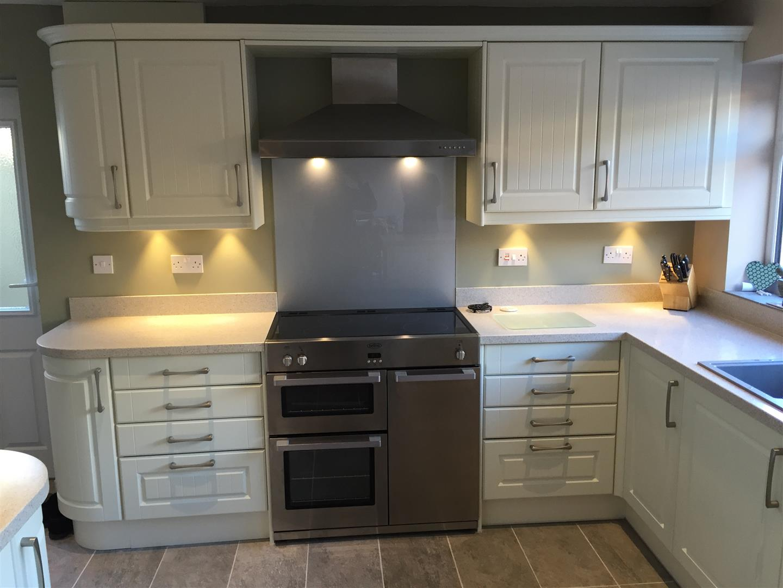 Matt White Kitchen - Shropshire