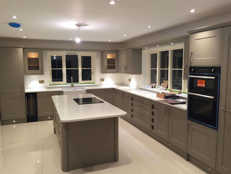 Stone Grey Kitchen Quartz Worktops - Telford, Shropshire