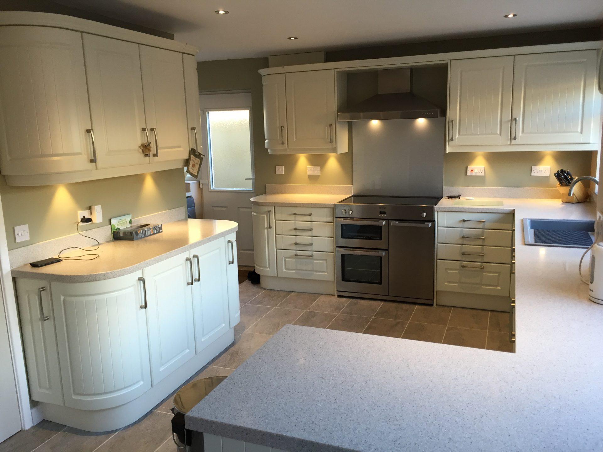 Traditional Matt White Kitchen - Broseley Shropshire