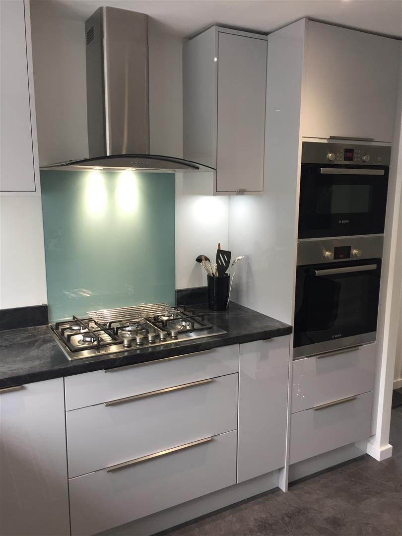 Ultra Gloss Grey Kitchen Installation - Priorslee Telford