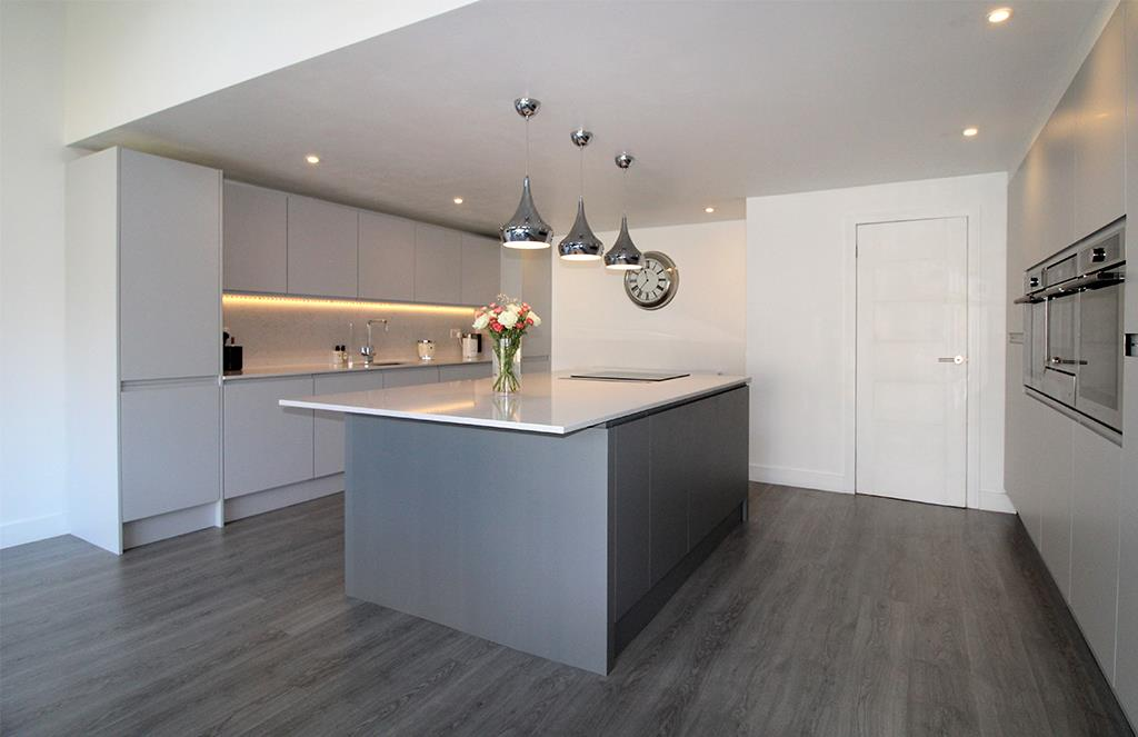 Contemporary German Kitchen with Island - Shropshire