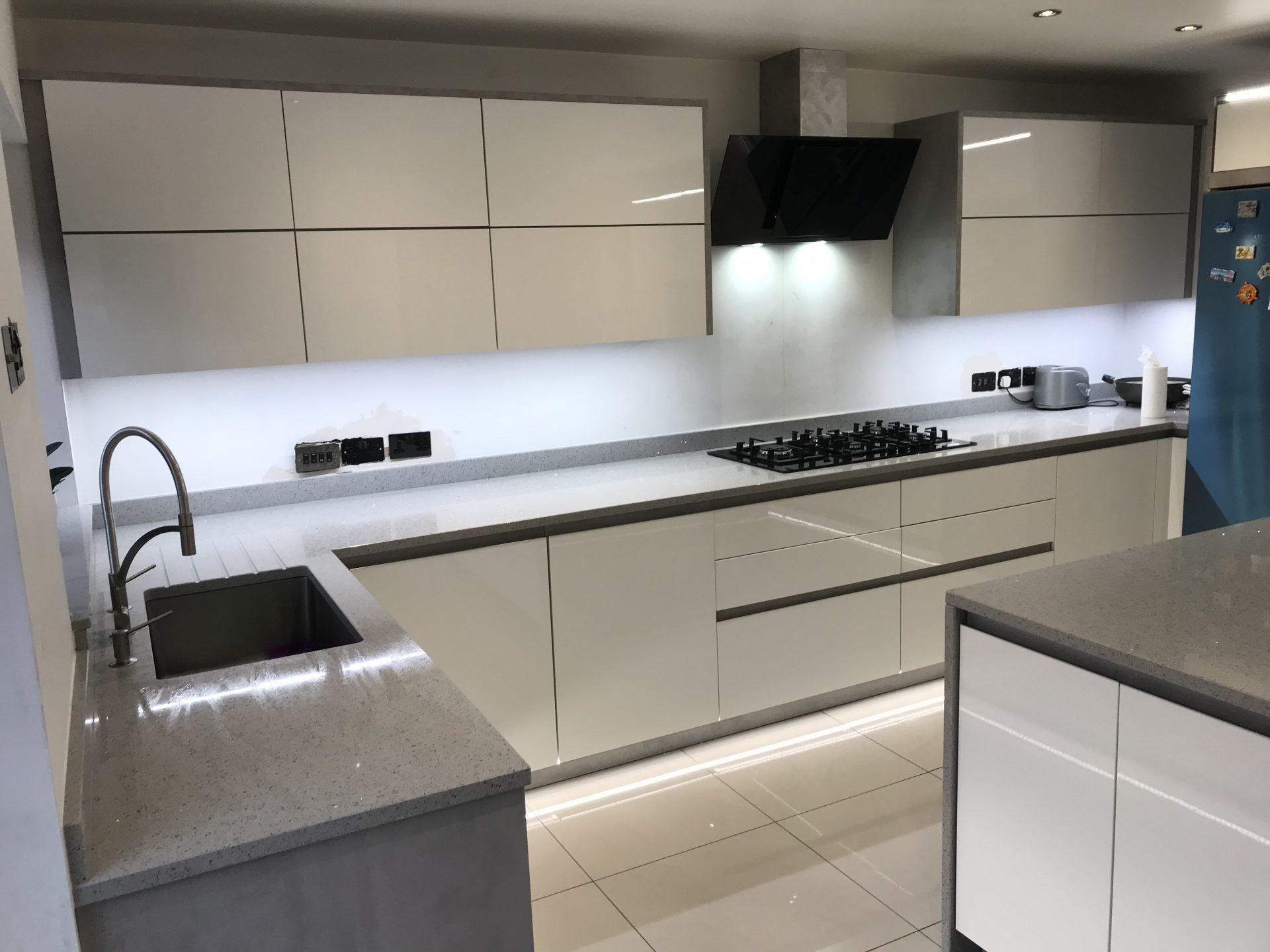 Contemporary German RotPunkt Handle-less Kitchen - Birmingham