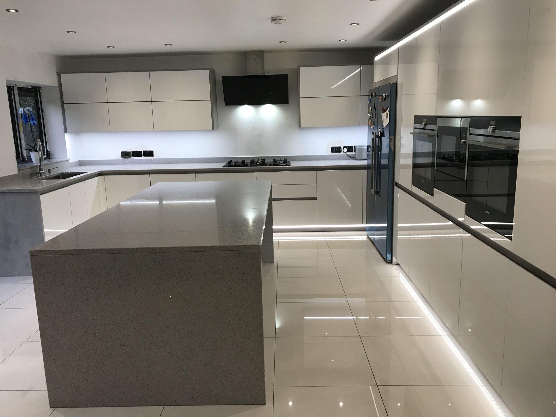 Contemporary German RotPunkt Kitchen with Island -Birmingham