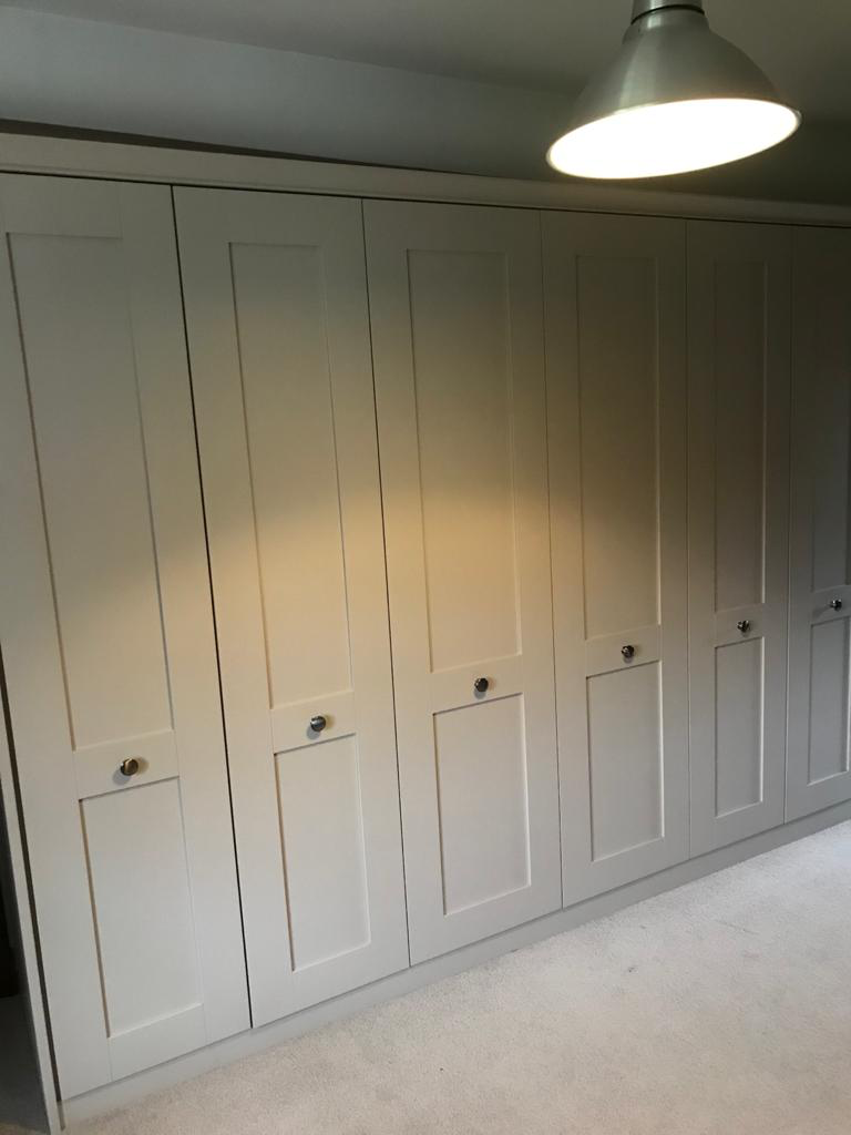 Fitted Hinged Door Wadrobes - Milton Painted Mussell