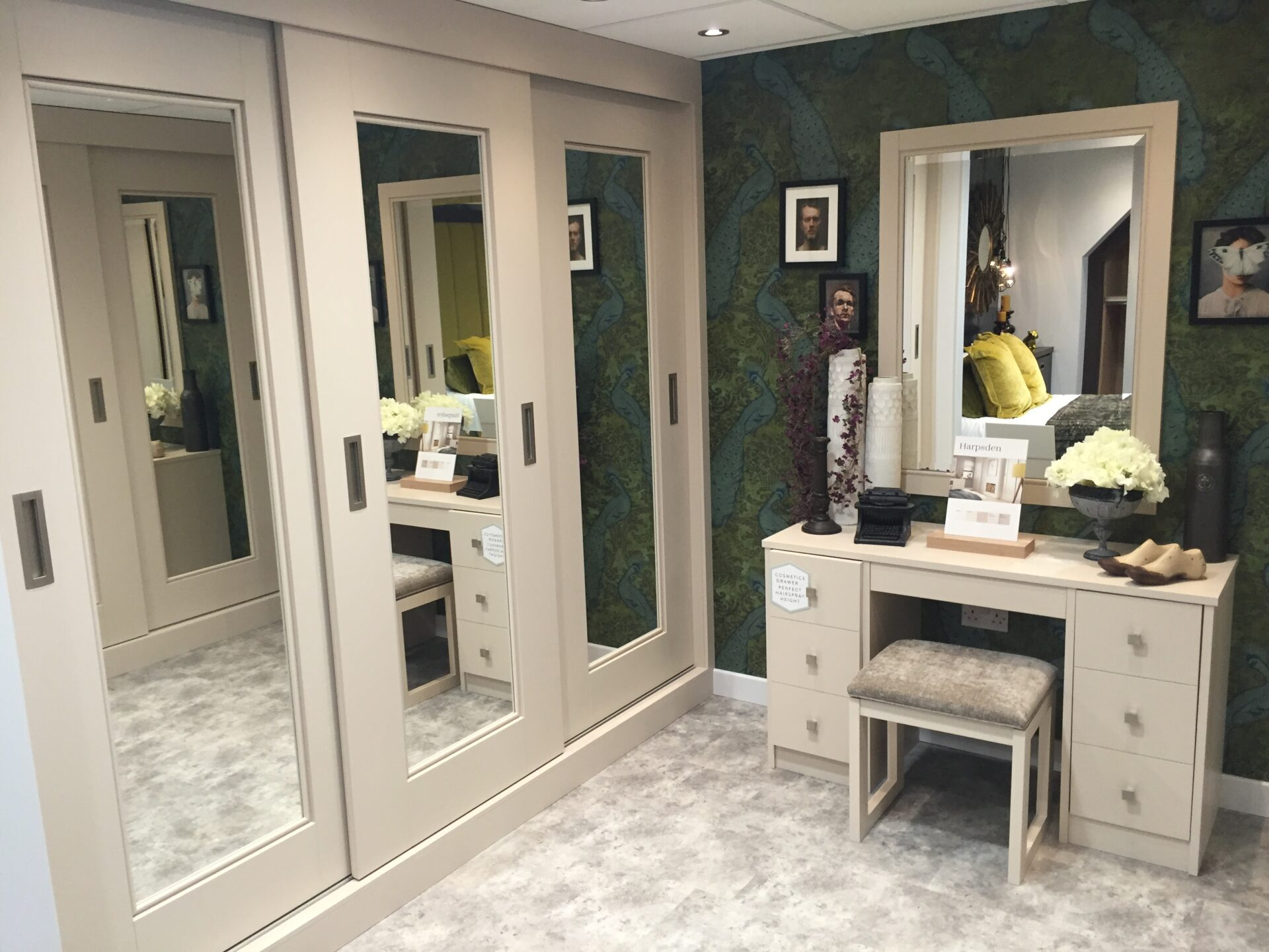 Fitted Sliding Wardrobes - Milton Painted