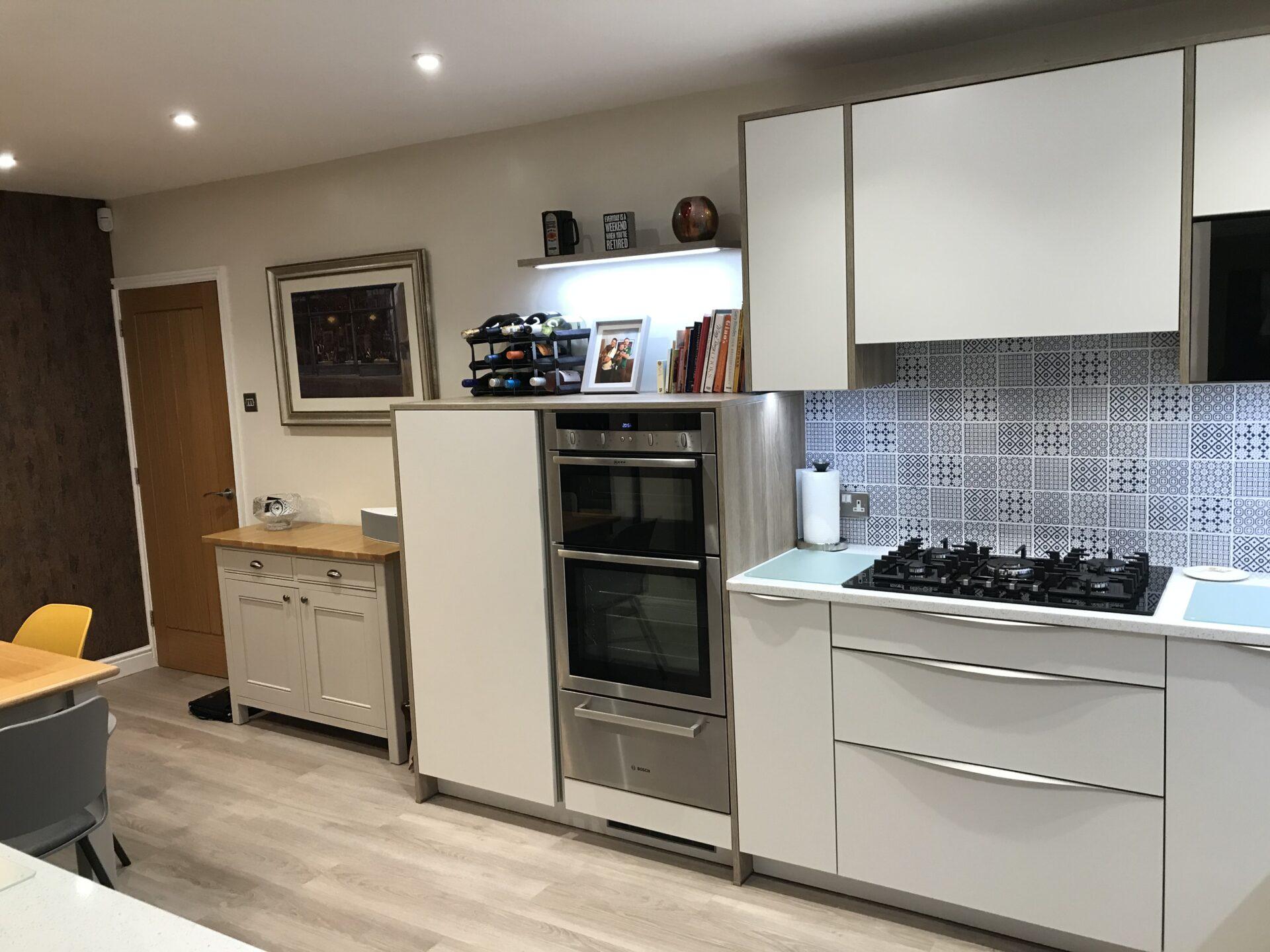 German Kitchen Super Matt with Solid Quartz Worktops (Newport)