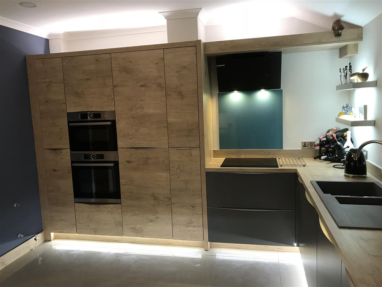 Modern German Kitchen Supermatt Wood - Montgomery Wales