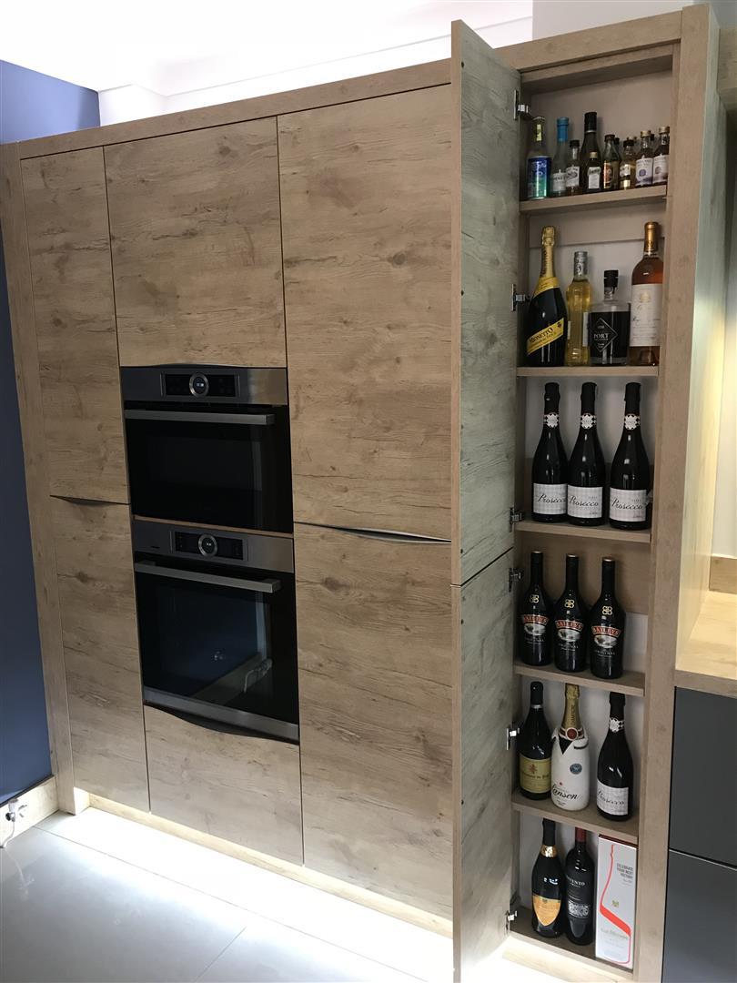 Modern German Supermatt Wood Kitchen - Montgomery Wales