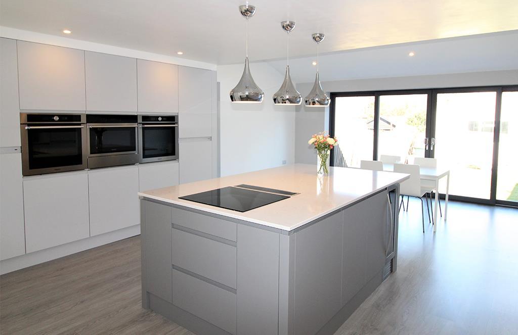 Dust grey German Kitchen Installation - Shropshire