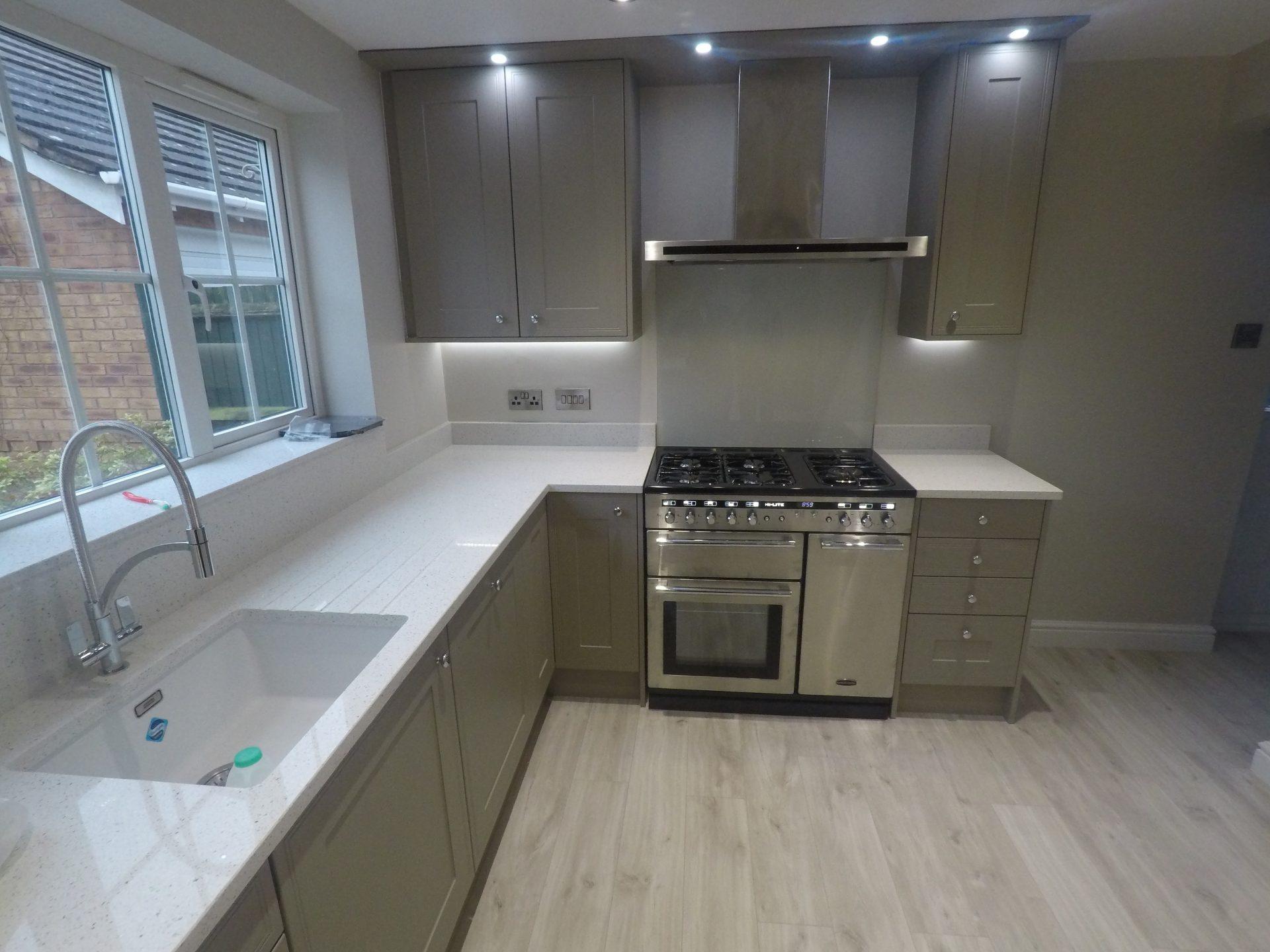 Matt Grey Kitchen Installation - Shropshire