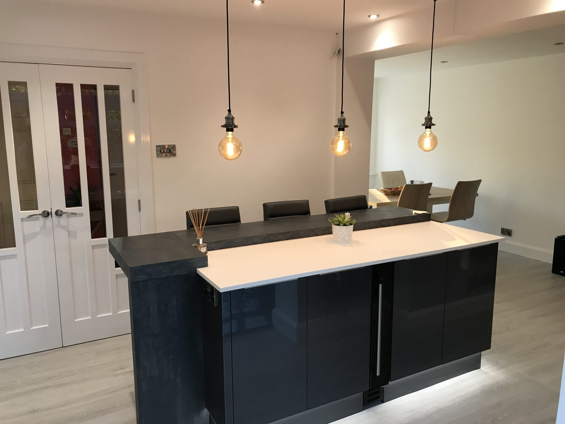 Contemporary Grey Anthracite kitchen with Island - Bratton, Telford