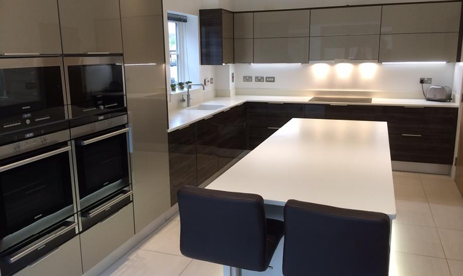 Ultra Gloss German Kitchen Insatallation - Shropshire